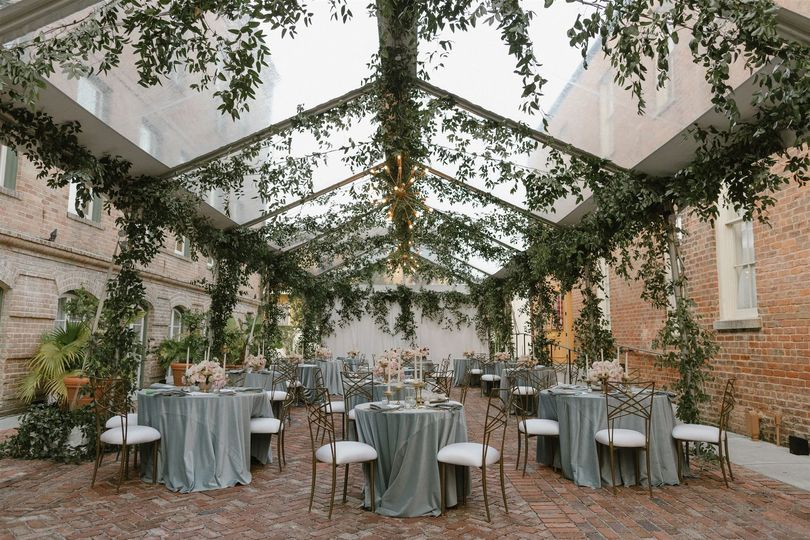 Clear Top Tent and Draping