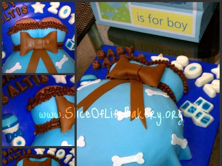 Tmx 1333153231476 BabyBumpCollage Temecula wedding cake