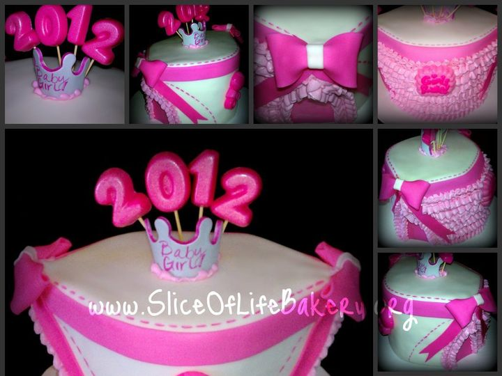 Tmx 1342810073628 BabyGirlDiaperCollage Temecula wedding cake