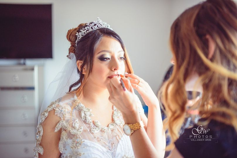 Bride final touch ups