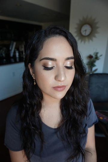 Beautiful glow makeup bridal