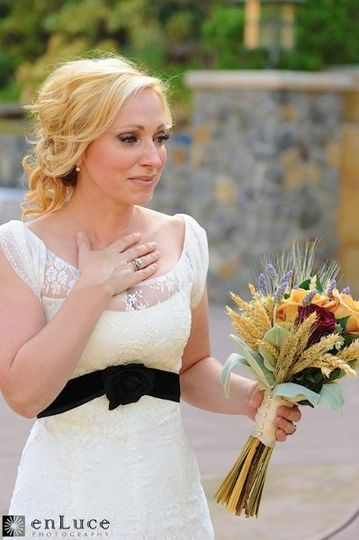 "Disney's ""Good Luck Charlie"" actress, Leigh-Allyn Baker upon seeing her event decor. ~ photo..."