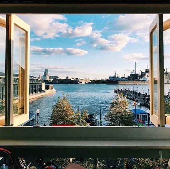 Overlooking Baltimore harbor