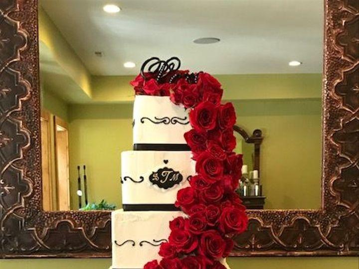 Tmx 1539021379 2ddb671e5b0c08c4 1539021378 Bc45b640625b4168 1539021379779 19 Black White And R Winston Salem, North Carolina wedding cake