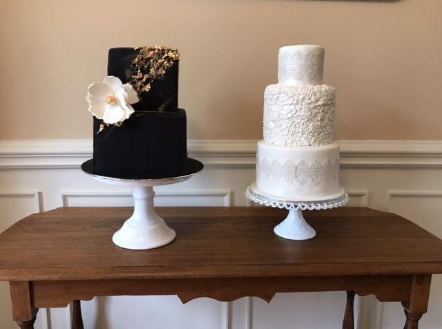 Tmx 1539021410 4d3371f9babeffae 1539021409 342e67569c5e6db4 1539021411198 22 Peach And Blue Winston Salem, North Carolina wedding cake
