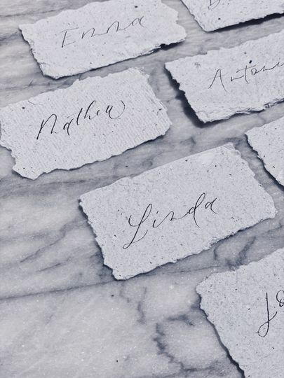 Handmade Paper Placecards