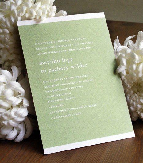 A simple and elegant invitation
