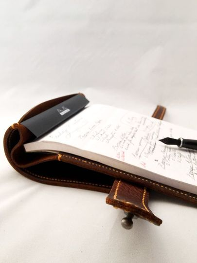 Notepad in leather