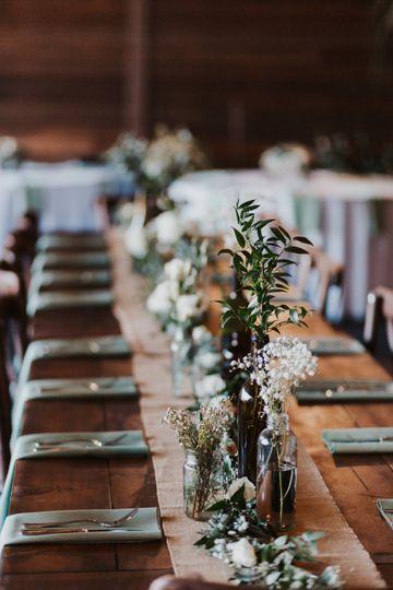 Honey brown tables
