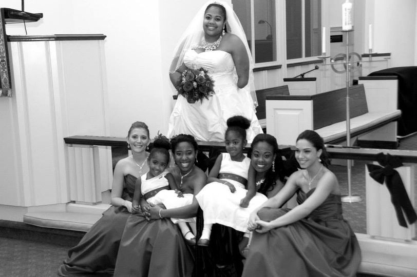 Bride and her ladies