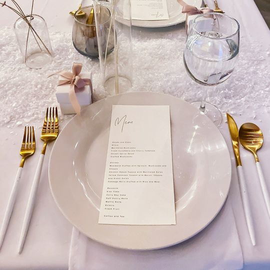 Plates and flatware