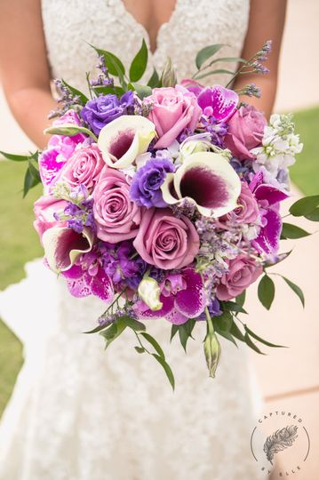 purple bouquet 1