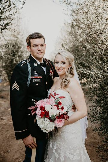 The bride and groom photo