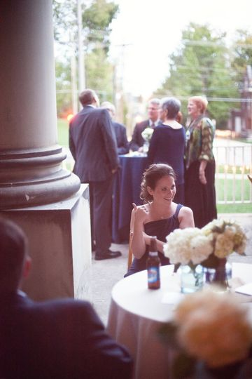 Extra tables on the veranda give guests an opportunity to enjoy beautiful weather while still being...