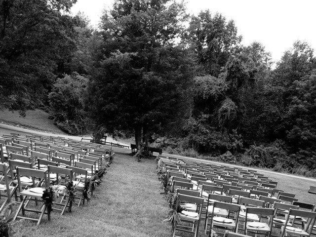 Wedding ceremony area