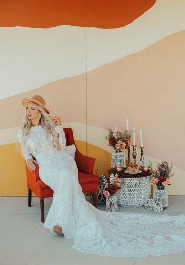 A reclining bride