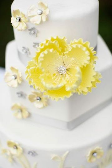 Yellow flower decorations