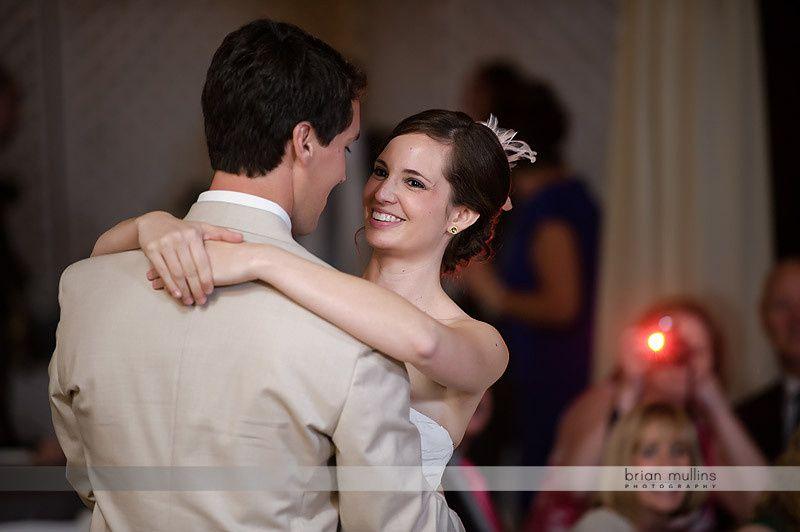 Newlyweds' first dance