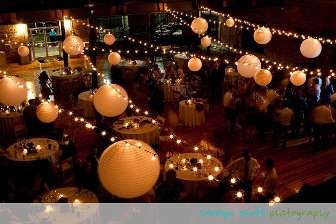 String lights and lanterns