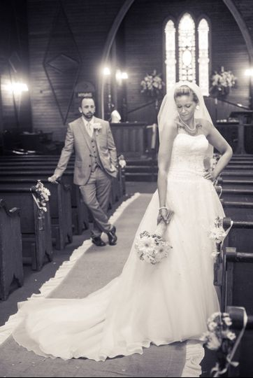 Couple at the church
