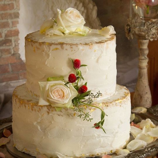 Rustic Cake with Gold
