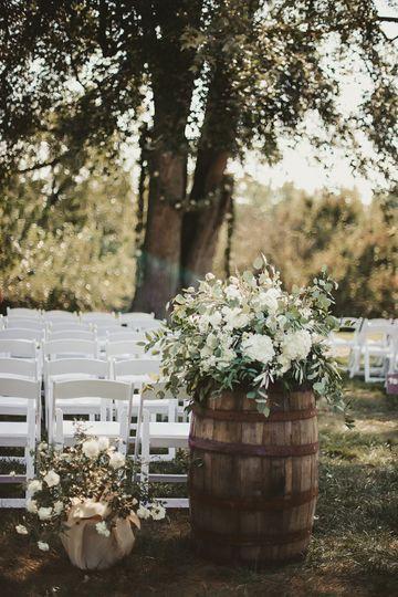 Wedding ceremony area decoration