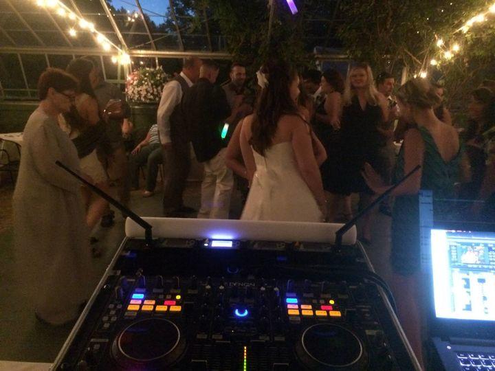 DJ mixing table