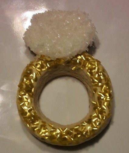 Sugar Cookie with Royal Icing, Edible Gold Glitter, and Decorator's Sugar