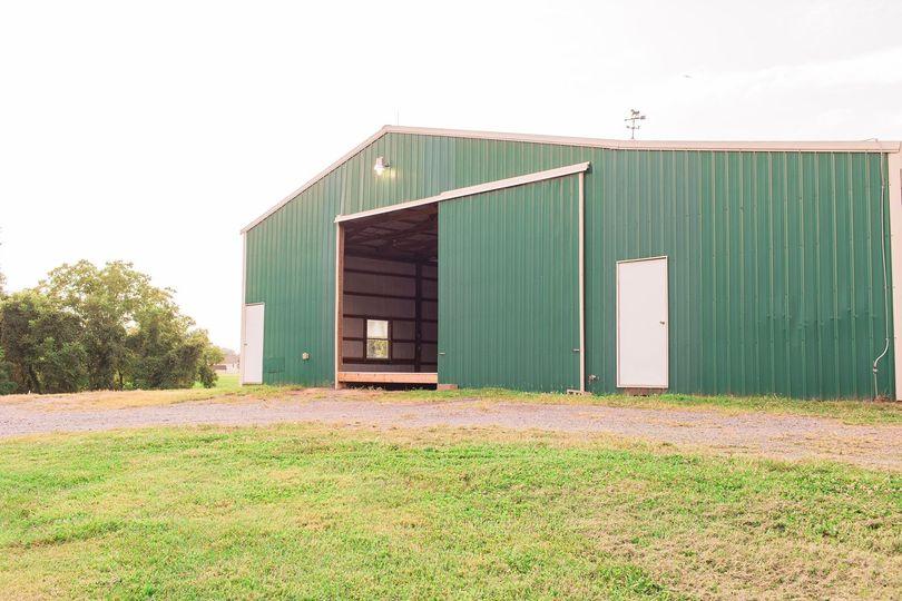 The barn exterior.