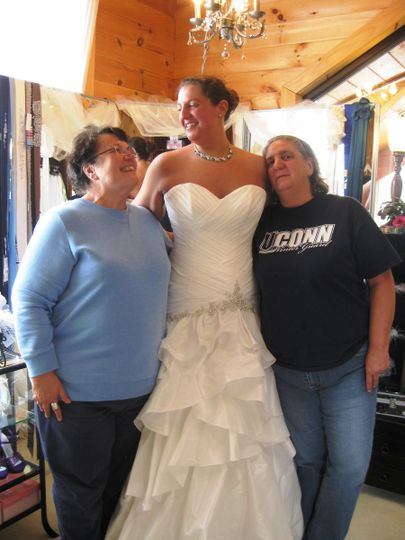 Fairy Godmother (Brenda Burns of Martin Gifts) Bride (Kim) Mother of Bride (BFF Judye) Picture...