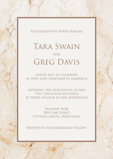 Marble invitation