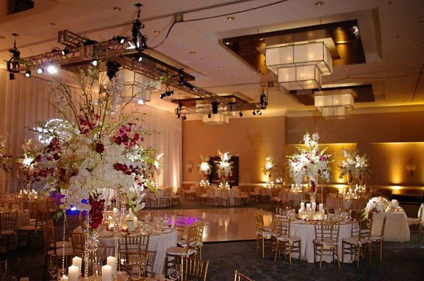 Lighting is a great way to create drama in our beautiful 20 foot ciling ballroom