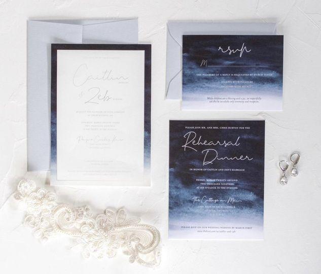 Silver foil invites