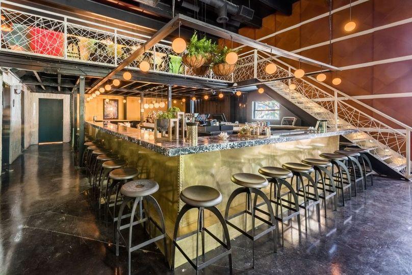 Indoor bar & mezzanine area