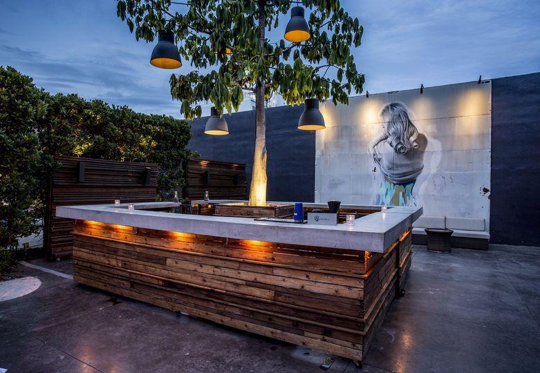 Garden mobile bar area
