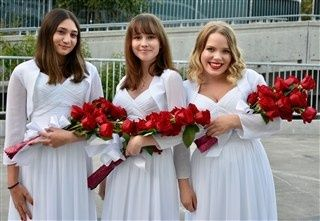 White gowns and jacket