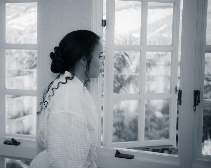 Bride reflecting