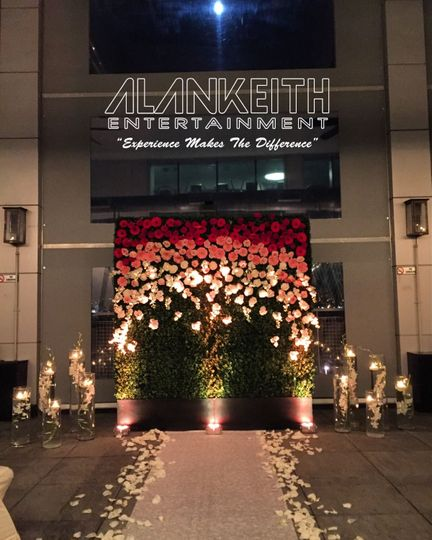 Custom Flower Wall, Bubble Machine & Up Lights W Hotel Hoboken