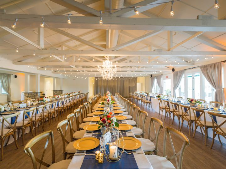 Tmx 1511201251376 Long Rows Gold Chargers Runners Friday Harbor, Washington wedding venue