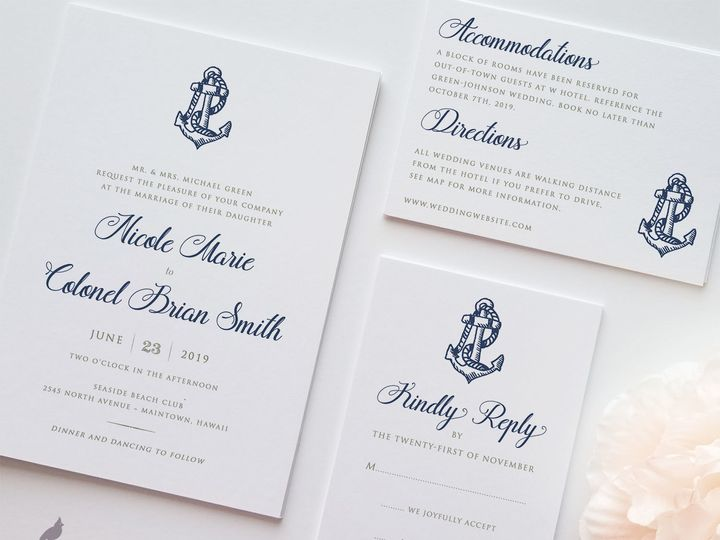 Tmx 1530129506 13735239f590a8a9 1530129505 487f76b046100883 1530129504463 1 Anchor Mariner Mai Catoosa wedding invitation