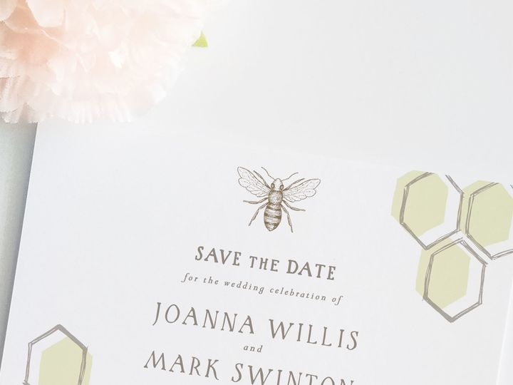 Tmx 1530129560 8af43cd4c2045014 1530129559 184e5b3747555570 1530129557923 6 Honeycomb Std Main Catoosa wedding invitation