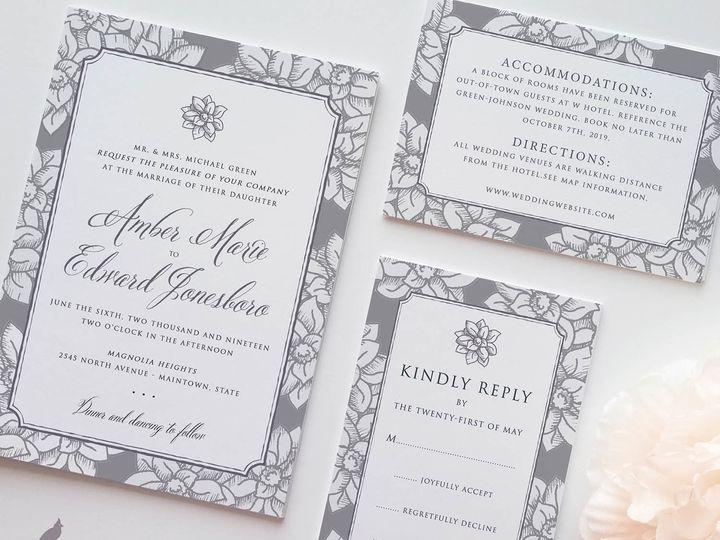 Tmx 1530129787 B94ee5f0bb7d306e 1530129786 C1bbae97b13ea2fe 1530129783891 13 Magnolia Img Main Catoosa wedding invitation