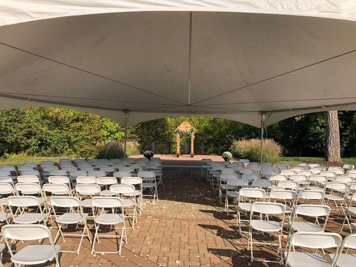 Tented ceremony
