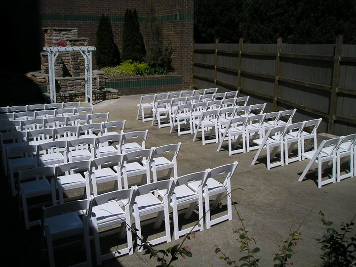 Our popular Lakeview Ballroom has a private fenced in patio that's perfect for a smaller ceremony OR...
