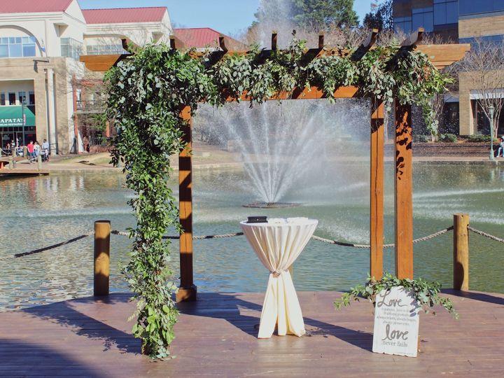 Tmx Dock Ceremony Whimsical 51 41781 V1 Charlotte, NC wedding venue
