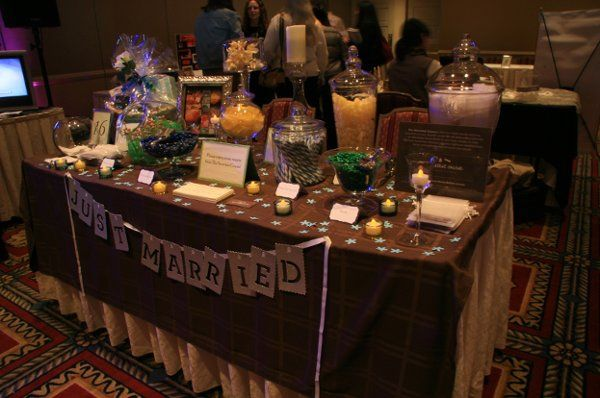 Green, Yellow & Blue Table for a Bridal Show