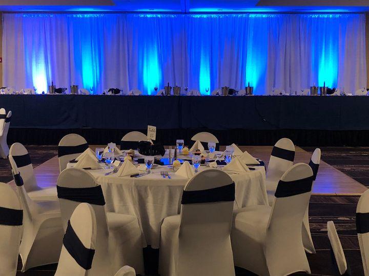 Tmx Wedding With Blue Backdrop 51 681781 1569962544 West Des Moines, IA wedding venue