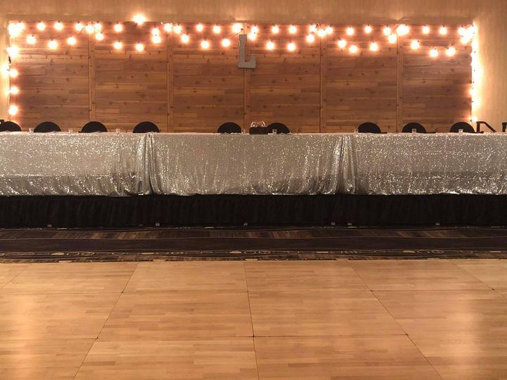 Tmx Wood Back Drop And Silver Linens 51 681781 1569962680 West Des Moines, IA wedding venue