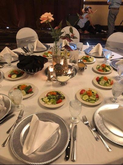 White Linens w/ salads