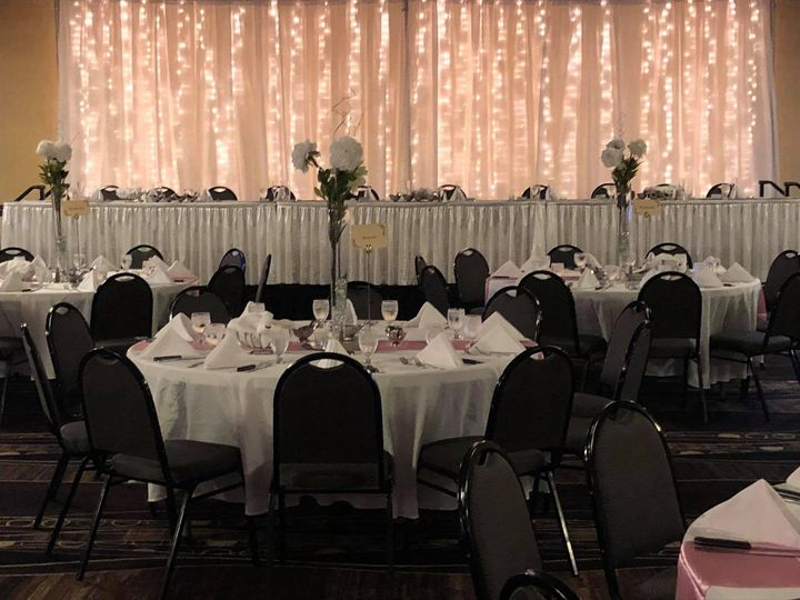 Head table w/ white linens